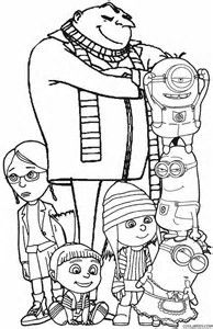 bildresultat fr despicable me coloring pages