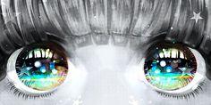 anime eyes! SO PWETTY >w