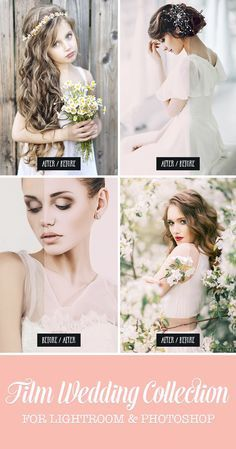 Photo editing has never been easier! Our most popular Wedding Lightroom presets collection - Clean Film Lightroom Presets Collection