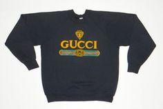Vintage GUCCI Logo Sweatshirt 1980's Sweater Crewneck