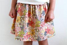 Liberty of London girl's skirt, twirly skirt, flowers, toddler skirt, baby skirt, cotton, Liberty, handmade in Amsterdam!