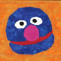 Grover, a free paper pieced pattern by @Michelle Thompson, available on Fandom In Stitches.