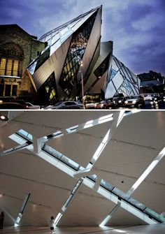 Toronto, Canada - The mother art is architecture. Without an architecture of our own we have no soul of our own civilization. Architecture Cool, Museum Architecture, Contemporary Architecture, Toronto Architecture, Design Museum, Art Museum, The Places Youll Go, Places To See, Royal Ontario Museum