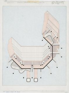 Florey Building, Queen's College, University of Oxford, 1966-1971. James Sterling