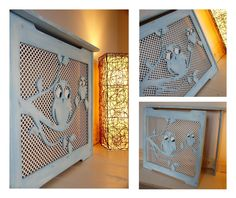 Mummy and baby owl safety nursery radiator cover.