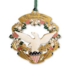 1998 White House Christmas Ornament, The American Bald Eagle and Shield - Ornaments - Christmas | The White House Historical Association