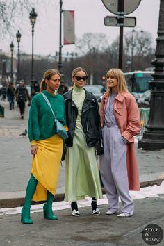 Emili Sindlev , Thora Valdimarsdottir and Jeanette Friis Madsen at PFW