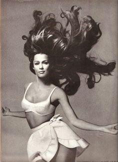 """Prettiness - Wet And Wild"" - US Vogue June 1968 Lauren Hutton by Richard Avedon"