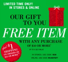 Bath & Body Works: FREE Item with Any $10.00 Purchase (Up to $13.00 Value)