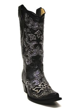 Corral Boots Women's Crystal Inlay Cowgirl Boots