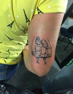 Kids at play. Tatoo Flowers, Tattoos For Women Flowers, Foot Tattoos For Women, Small Wrist Tattoos, Tattoos For Kids, Family Tattoos, Sister Tattoos, Ankle Tattoos, Tattoo Small
