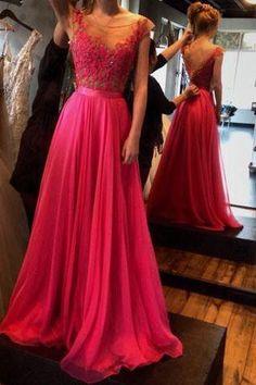 Pd407 Charming Appliques A-Line Prom Dress,Chiffon Prom Dress,Long Prom Dresses uk