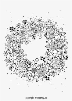 Free Coloring Pages: 21 Gorgeous Floral Pages You Can Print And Color Coloring Book Pages, Printable Coloring Pages, Coloring Sheets, Colouring Pages For Adults, Flower Coloring Pages, Colorful Drawings, Colorful Pictures, Mandala Coloring, Embroidery Patterns
