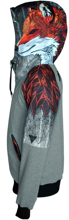 FOX ZIPPED WOMEN'S HOODIE