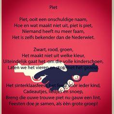 #piet #zwartepiet #sinterklaas #gedicht
