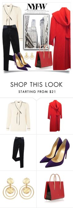 """""""Pack for NYFW"""" by efriersob ❤ liked on Polyvore featuring Dorothy Perkins, Christian Louboutin and Kenneth Jay Lane"""