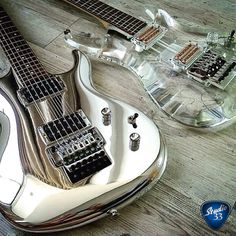 Ibanez Joe Satriani signature models Chrome Boy and Crystal Planet #JoeSatriani #Ibanez Learn to play guitar online at www.Studio33GuitarLessons.com