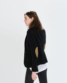 BLAZER WITH ELBOW PATCHES-Blazers-Jackets-WOMAN | ZARA United States