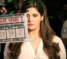 The shadow of destination: Zarine Khan :First take for:: Hate Story 3