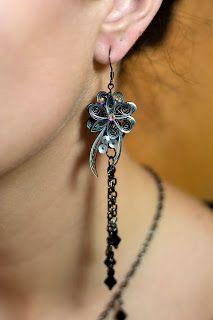 Appel Quilling Garden: earring