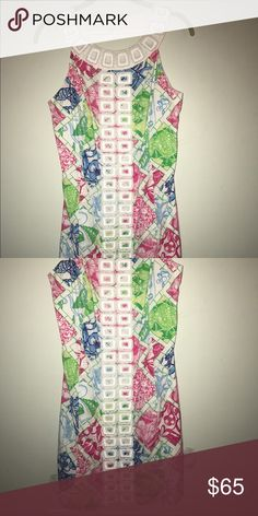 Lilly Pulitzer Shift Dress VINTAGE for the jubilee collection from Lilly Pulitzer! Super cute I wore it once to an event but it's not my style anymore! Preppy style Lilly Pulitzer Dresses
