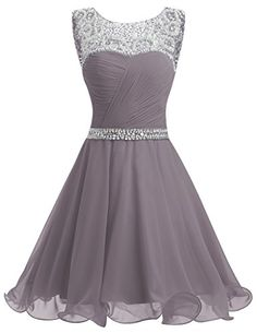 Dresstells® Short Homecoming Dress Ruched Chiffon Prom Pa...