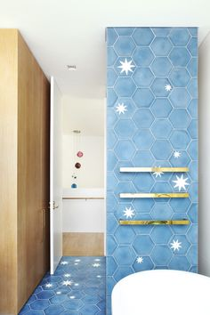 PohioAdams Architects project with popham design hex star handmade cement tiles