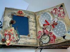 Alice in Wonderland handmade scrapbook. onahaynes on Etsy