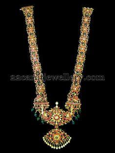 22ct Lotus Long Chain