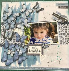 Scrapbook Designs, Scrapbooking Layouts, Scrapbook Cards, Baby Girl Scrapbook, Kids Pages, Photo Layouts, Mini Albums, Cardmaking, Projects To Try