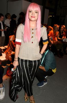 Lily Allen at Vivienne Westwood from Stars at London Fashion Week Spring 2016 Lilly Allen, Queen, Bella Hadid, Spring 2016, Lily, Beautiful Women, Actresses, Female, Celebrities