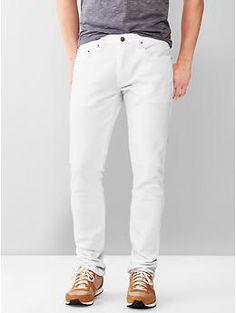 1969 skinny fit jeans (stone white wash)   Gap
