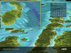 Nova Scotia, Aerial View, Geo, Calendar, Life Planner