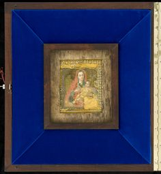 Miracle-Working  icon of Theotokos of Kozeltshan after conservation in kiota. After conservation this icon travelled through Finland and many orthodox churches before returning to the Uspenski Cathedral.