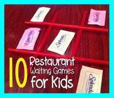 10 Restaurant Waiting Games