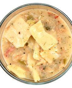 Mo's Smoked Chicken and Dumplings - Finished in the Crock Pot! (This sounds DELISH)!