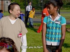 Chang is one of my favorite characters! Orange Is The New Black, Jenji Kohan, Black Tv Shows, Alex And Piper, Laura Prepon, Casting Pics, Parks N Rec, Netflix Originals, New Face