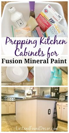 Prep 101:  How to Prep Kitchen Cabinets for Fusion Mineral Paint | http://www.lostandfounddecor.com/how-tos/prep-101-how-to-prep-kitchen-cabinets-for-fusion-mineral-paint/