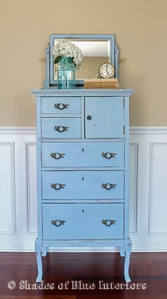 Louis Blue chest cabinet