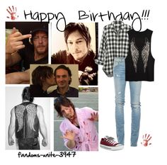 Happy Birthday Norman!!!!!! by fandoms-unite-3947 on Polyvore featuring Madewell, Roÿ Roger's and Converse