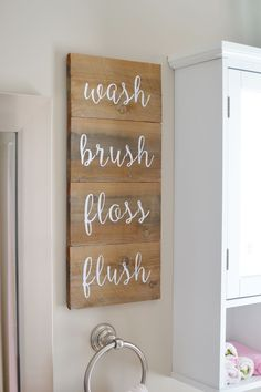Easy Hand-lettered Bathroom Reminders