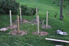 Picture of Laying out for the posts