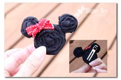 Minnie Mouse hairclip for Disney trip.