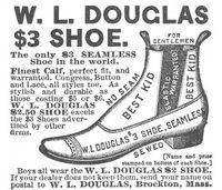W. L. Douglas Shoe 1887 Ad Picture