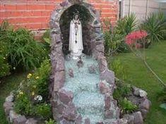 Resultado de imagen para fuentes de agua caseras con piedras