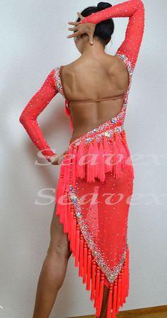 Ballroom Latin Cha Cha Ramba Samba Dance Dress US 8 UK 10 Two Pink Fringing | eBay