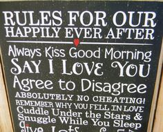 Items similar to Rules For Our Happily Ever After -Happy Marriage typography word art subway wood sign on Etsy Say I Love You, Love Of My Life, My Love, Good Morning Picture, Good Morning Images, Happy Marriage, Love And Marriage, Agree To Disagree, Dancing In The Moonlight