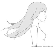 This tutorial explains how to draw anime and manga hair blowing in the wind in different directions from two different views with several examples. Wind Drawing, Drawing Base, Manga Drawing, How To Draw Anime Hair, Anime Character Drawing, Art Drawings Sketches Simple, Anime Poses Reference, Drawing Templates, Art Poses