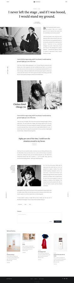 HypeMag - Digital Magazine on Behance Minimal Web Design, Web Ui Design, Flat Design, Blog Layout, Web Layout, Layout Design, Website Design Inspiration, Magazine Design, Web Themes