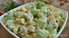Sałatka z selerem naciowym Polish Recipes, Pasta Salad, Potato Salad, Sweet Home, Lunch Box, Food And Drink, Tasty, Drinks, Ethnic Recipes